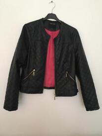 Ladies Faux Leather Jacket