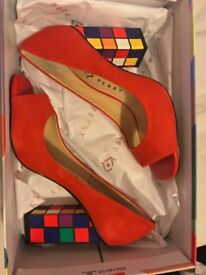 Katy Perry ' The Caitlin ' Red Cherry Heels Size 3 UK
