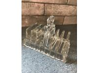 Vintage glass toast rack