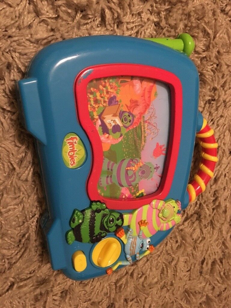 Musical toy with moving screen
