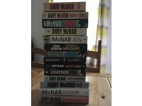 Selection of Andy mcnab books