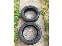 X 2 continental tyres 205 50 17 matching pair