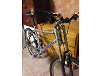 Super rare Kona u-hu full suspension mountain bike