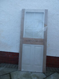 NEW UNUSED HALF GLAZED DOOR 1985 X 840
