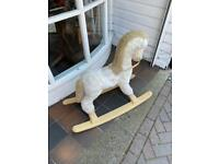 Vintage Retro Rocking Horse Toy Ornament Bedroom Furniture