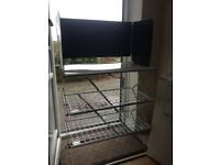 Camping stove stand and pantry