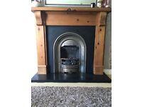 Solid Oak Fire Surround £100