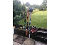 Two pairs of skis,boots,poles,giro helmet,boots 28.5 skis 181 £300 Ono