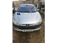 peugeot 206cc LOW MILEAGE !!! ONLY 2 LADY OWNERS