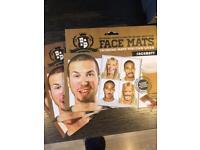 Stocking filler ! - silly face mats