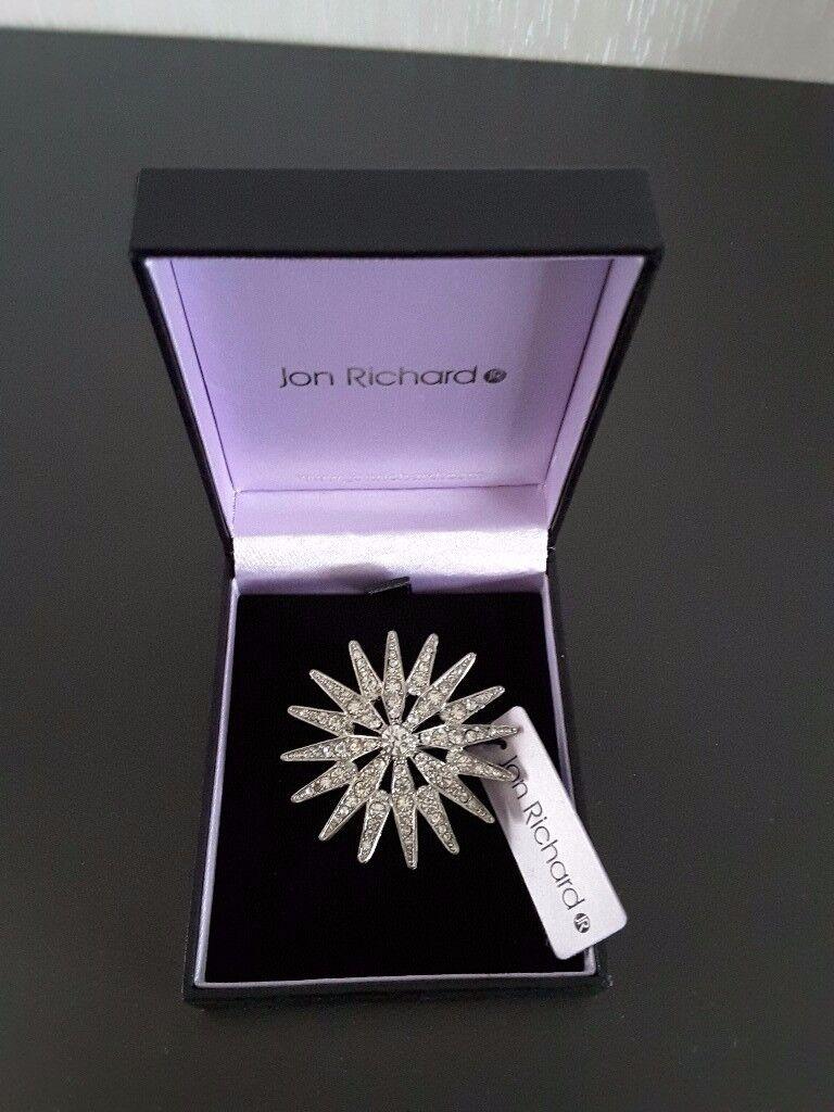 Jon Richards Crystal Brooch, Ladies Christmas Gift.