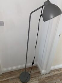 Grey floor lamp