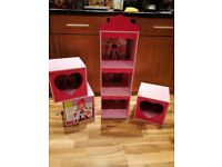 Girls Cube Storage in Pink