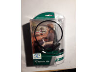 Logitech PC Headset 120 (Behind-the-Neck) w/ Microphone Black