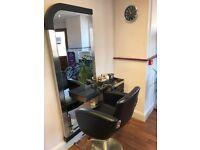 x2 Salon Chair and Mirror (£150 each), x1 Salon Back Wash Unit (£200) - Brand New