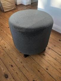 BRAND NEW Grey Boutique Footstool