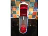 Red Sodastream with one bottle