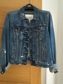 A&F denim jacket brand new