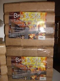 Oak heat logs, briquettes, eco fuel for wood/multifuel stoves