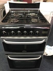 CANNON 50CM ALL GAS COOKER IN BLACK AND SILIVER