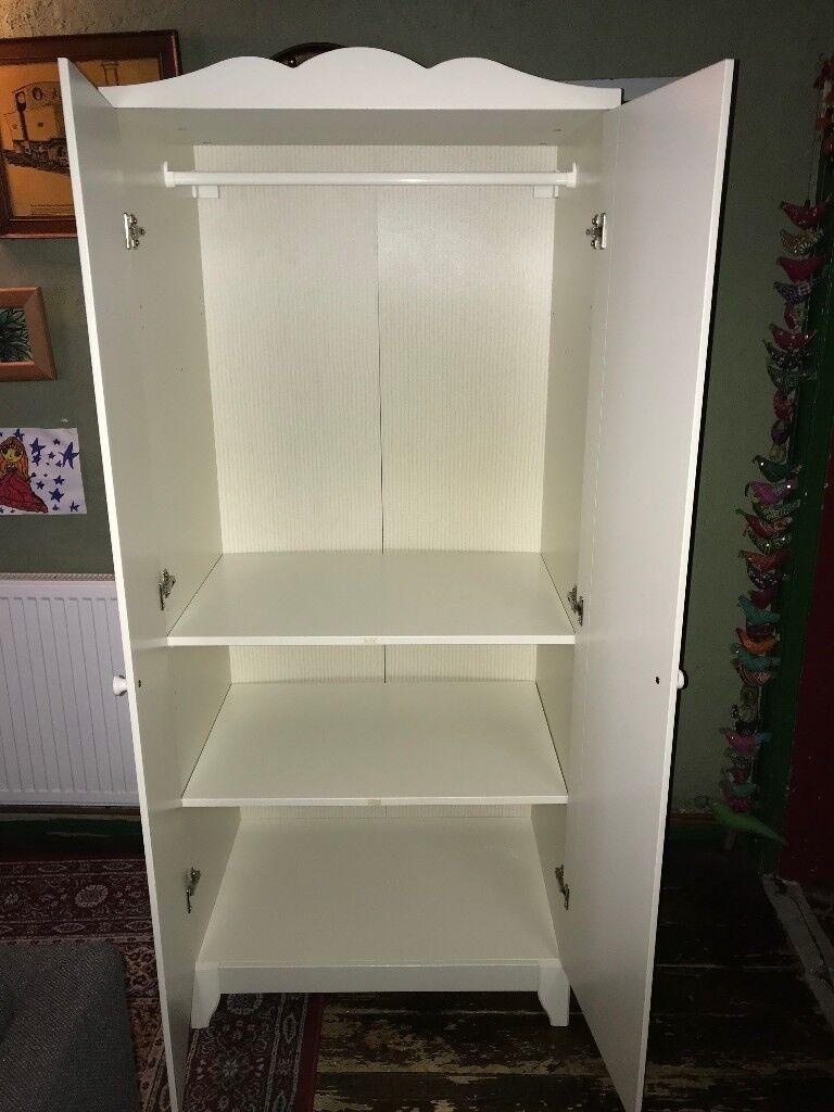 Ikea Hensvik white single wardrobe | in Newton-le-Willows