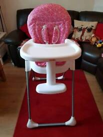Babies R us pink Highchair for sale