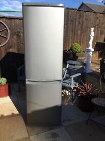 Samsung Brushed Steel Silver Fridge Freezer In Excellent Condition Can Deliver Asap