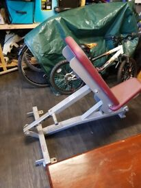 Hammer Strength commercial weight lifting bench Like New