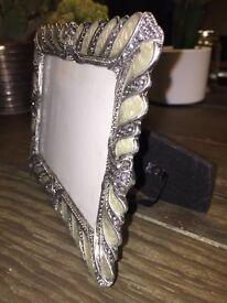 Ornate metal photo frame