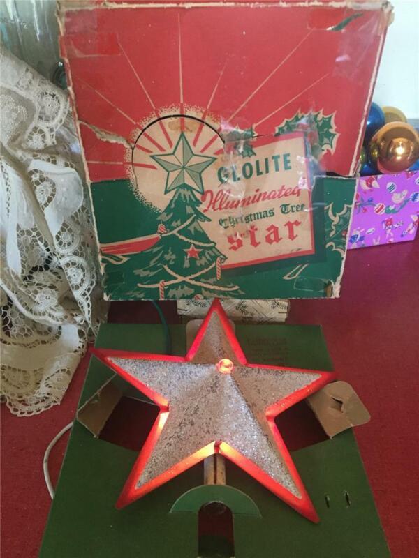 Vintage Glolite Illuminated Christmas Tree Star Noma ? Original Box Works