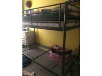 Metal bunk beds (grey)