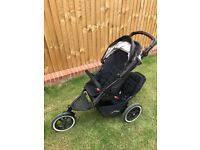 Phil & Teds Navigator v2 Double Pushchair with Extras