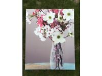 Next, White Flower Canvas Print (W40cm x H50cm x D4cm).