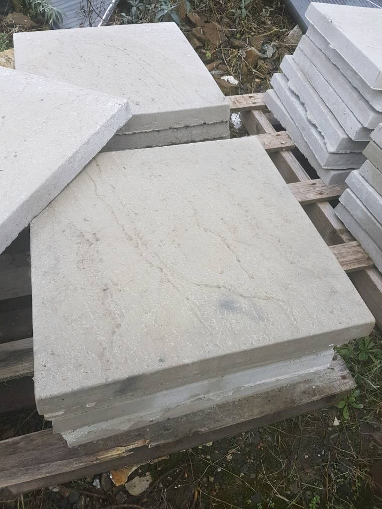 Grey 450x450x38 Concrete Paving Slabs In Prudhoe