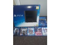 Ps4 console, 2 controllers and 5 games mint