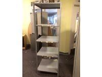 Grey Metal Shelving Unit 184cm tall x 61cm x 61cm