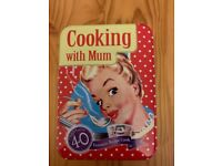 Cooking with mum recipe card tin