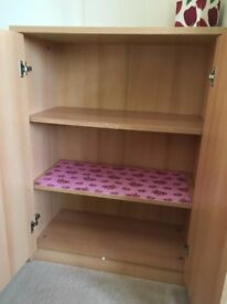 Bedroom furniture, 2 x bedside cabinets/drawers, cupboard and cupboard with drawers matching