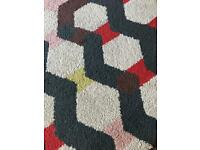 Coloured rug