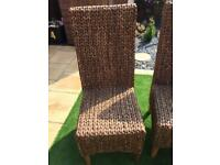 Plain Grass Dining Chairs