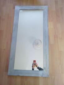 Large silver framed mirror £20