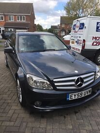 Mercedes C220 blue efficiency Sport Auto- 2009 (59) - only 2 owners - sat nav, leather, heated seats