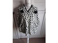 Leopard print onesie poncho