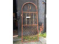 Ornate garden gate