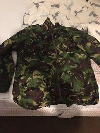 Large green camouflage jacket