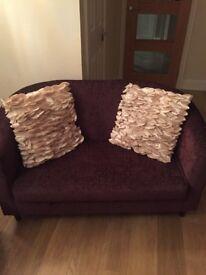 2 x small 2 seater sofas