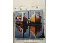 Boat Canvas Wall Art Sailing Fishing Sea