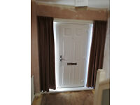 Curtains for Entrance Door Sidelights Lined Blackout