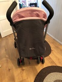 Silver cross butterfly lace pushchair