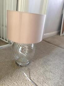 Next lamp and shade mink